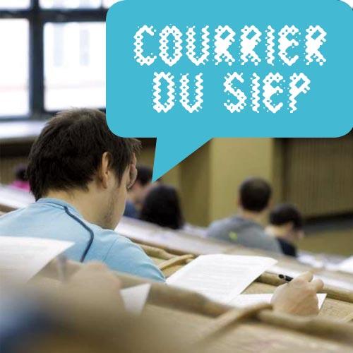COURRIER DU SIEP : études supérieures en alternance et allocations d'études