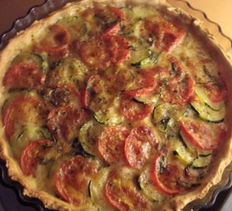 Quiche courgette tomate thon