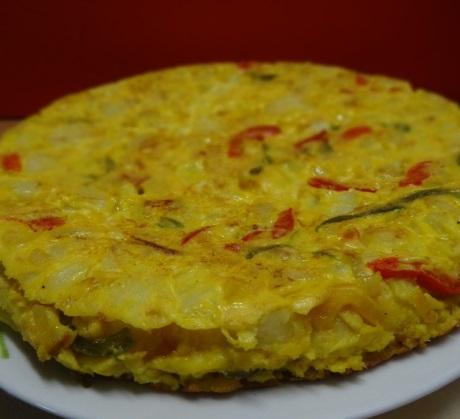 Tortilla espagnole aux poivrons