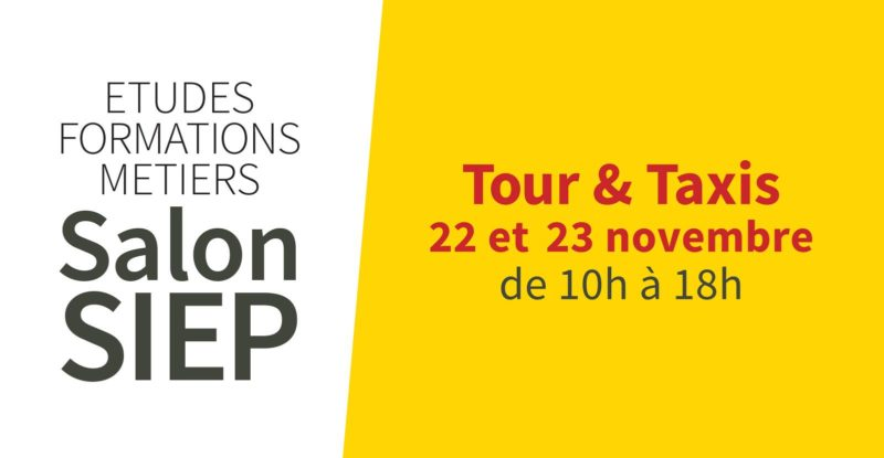 SAVE THE DATE : le Salon SIEP à Tour & Taxis les 22 et 23 novembre 2019